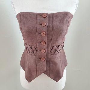 Bebe linen bustier corset sz 8